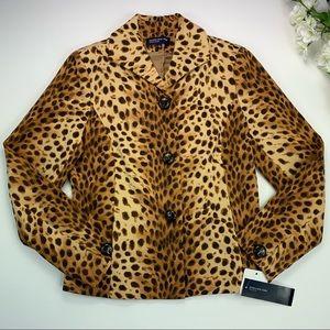 Jones New York Milan Leopard Cheetah Print Blazer